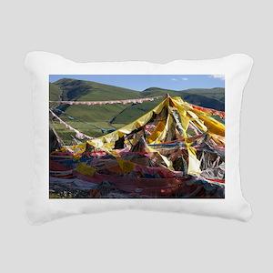 Prayer flags in Tibet Rectangular Canvas Pillow