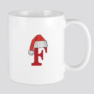 Letter F Christmas Monogram Mugs