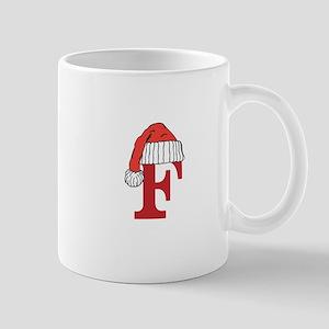 Letter F Christmas Monogram Mugs
