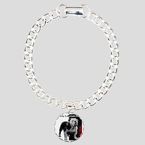 little-friend3-dark Charm Bracelet, One Charm
