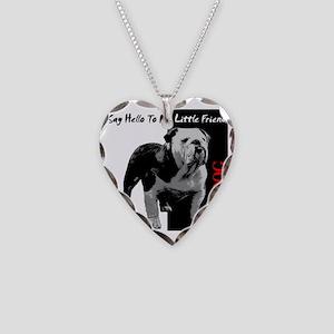 little-friend3-dark Necklace Heart Charm