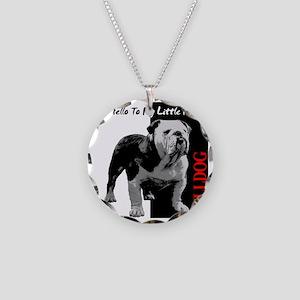 little-friend3-dark Necklace Circle Charm