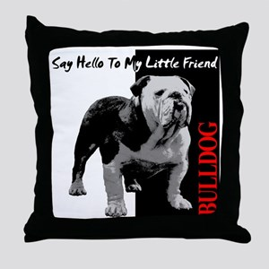 little-friend3-dark Throw Pillow