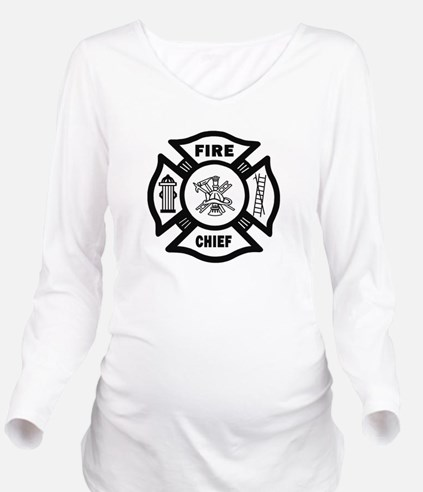 Fire Chief Long Sleeve Maternity T-Shirt