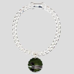 Print Loon Charm Bracelet, One Charm