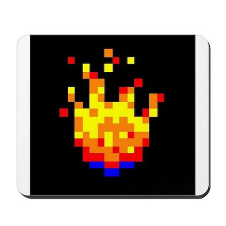 8-bit Fire Ball Mousepad