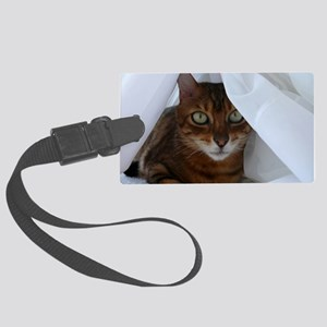 Bengal in White Large Luggage Tag