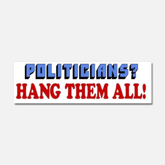 Hang Them All Car Magnet 10 x 3