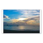 Turks & Caicos Sunset Rectangle Sticker