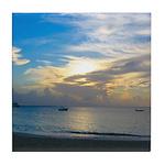 Turks & Caicos Sunset Tile Coaster