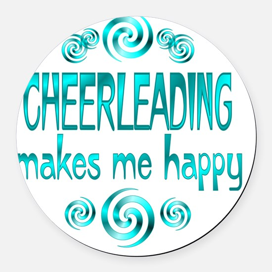 cheerleading Round Car Magnet