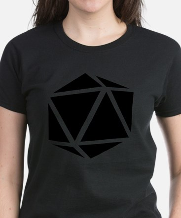 icosahedron black Women's Dark T-Shirt