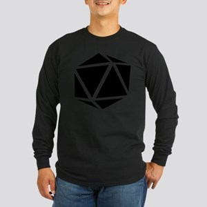 icosahedron black Long Sleeve Dark T-Shirt
