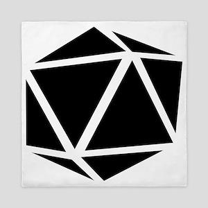 icosahedron black Queen Duvet