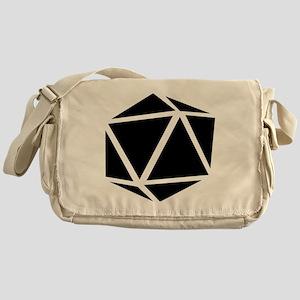 icosahedron black Messenger Bag