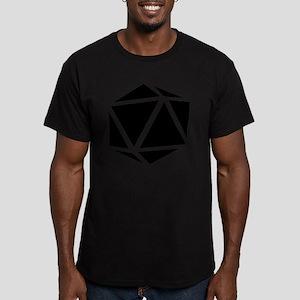 icosahedron black Men's Fitted T-Shirt (dark)