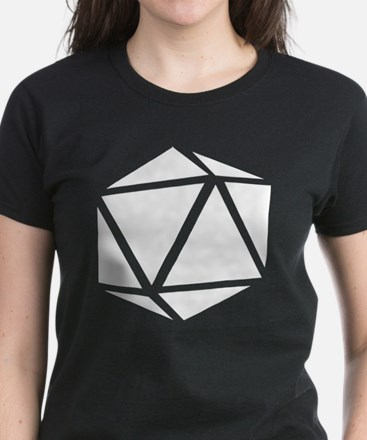 icosahedron white Women's Dark T-Shirt
