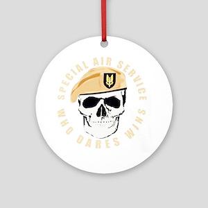 sas_skull_tshirt-p23542595447177638 Round Ornament