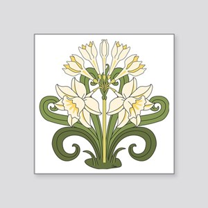 "Daffodils Square Sticker 3"" x 3"""