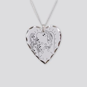 Working in the Light Necklace Heart Charm