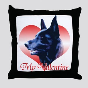 Black Shep Valentine Throw Pillow