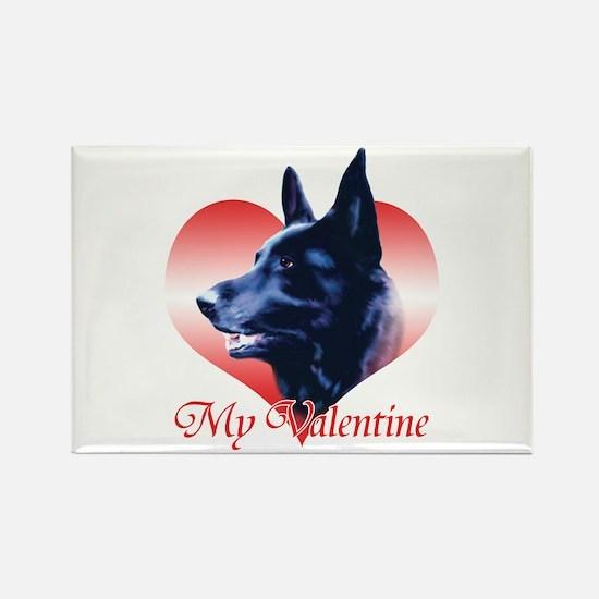 Black Shep Valentine Rectangle Magnet