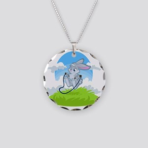 Bunny Jump Rope Necklace Circle Charm