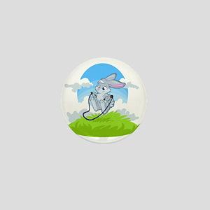 Bunny Jump Rope Mini Button