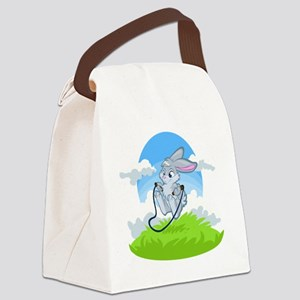 Bunny Jump Rope Canvas Lunch Bag