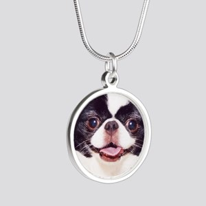 .japanese chin Silver Round Necklace