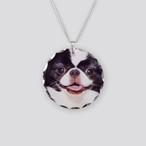 .japanese chin Necklace Circle Charm