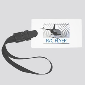Radio Control Flyer Helicopter Luggage Tag