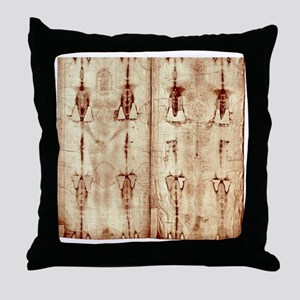 Shroud of Turin - Full Length Front-B Throw Pillow