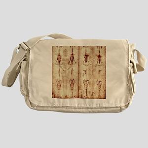 Shroud of Turin - Full Length Front- Messenger Bag
