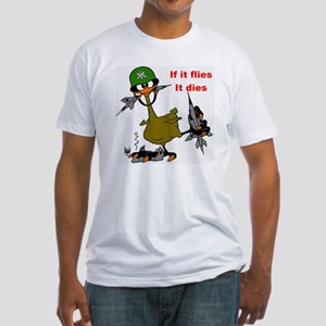 if it flies it dies Fitted T-Shirt