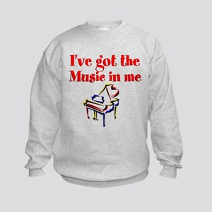 PIANO PLAYER Kids Sweatshirt