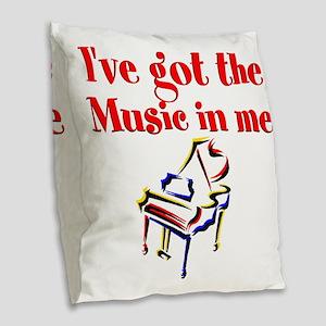PIANO PLAYER Burlap Throw Pillow