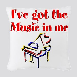 PIANO PLAYER Woven Throw Pillow