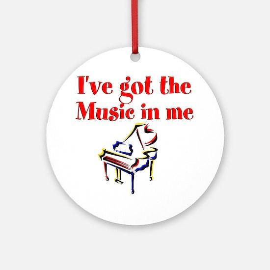 PIANO PLAYER Ornament (Round)