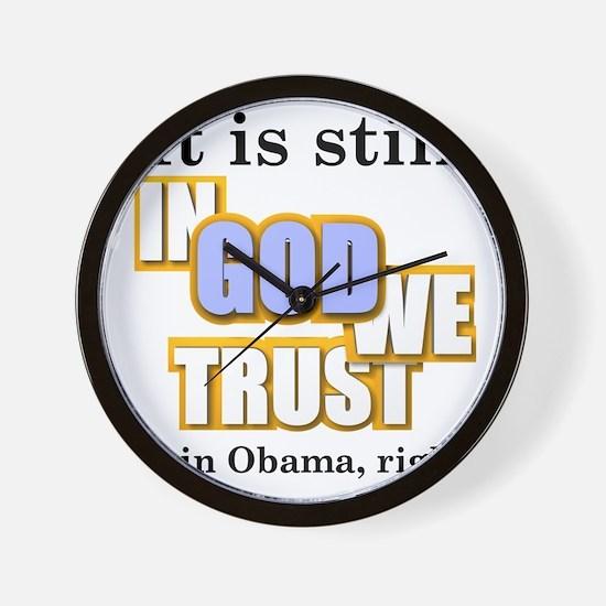 in-god-we-trust Wall Clock