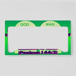 Psalm144-3(oval landscape) License Plate Holder