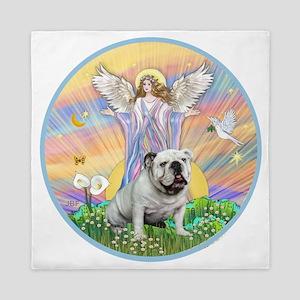 Blessings - English Bulldog (white) Queen Duvet