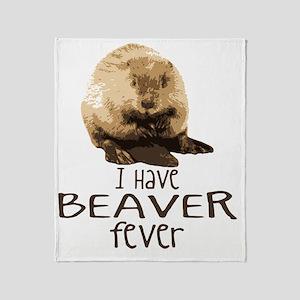 2-beaverfever Throw Blanket