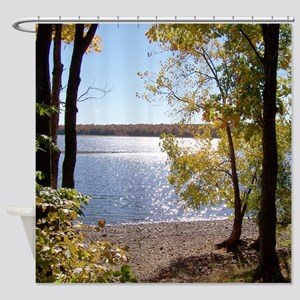 Lakeview Scenery Shower Curtain