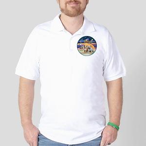 Xmas Star (R) - Two English Bulldogs Golf Shirt