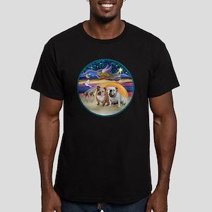 Xmas Star (R) - Two En Men's Fitted T-Shirt (dark)
