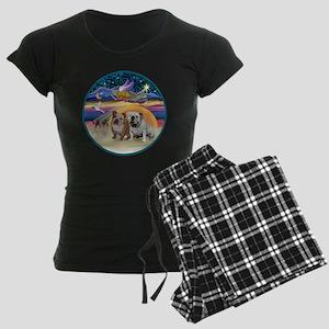 Xmas Star (R) - Two English  Women's Dark Pajamas