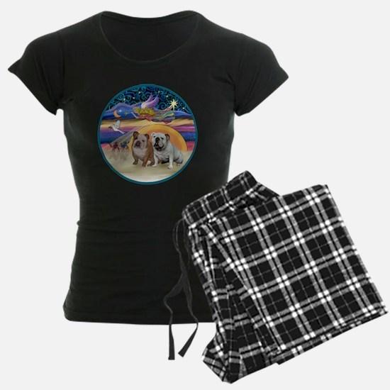 Xmas Star (R) - Two English  pajamas