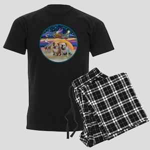 Xmas Star (R) - Two English Bu Men's Dark Pajamas