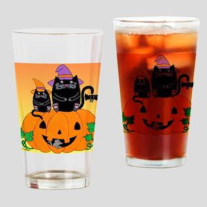 hllwn-2cats-pmkn-bat_Xbrdr Drinking Glass
